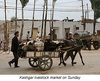 KAshgar livestock market on Sundays