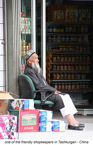 Tashkurgan shopkeeper in China