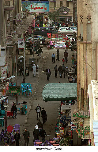 cairo downtown streets Egypt