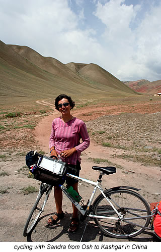 cycling with sandra in Kyrgyzstan