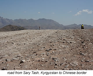 road from Sary Tash to Chinese border