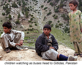 children on the way to barbusar pass in kaghan valley pakistan