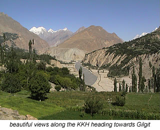 views of valley along KKH leading to Gilgit Pakistan