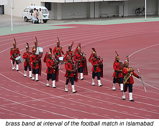 brass band for women's football  in islamabad