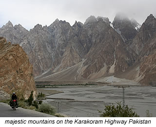 mountains along Karakoram Highway Pakistan