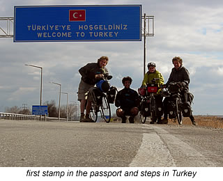 cycling across the turkish border