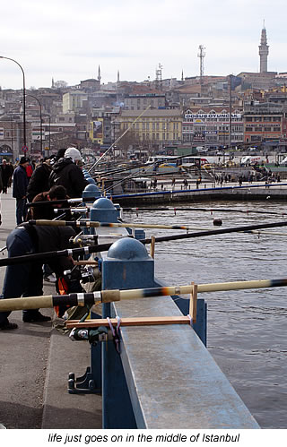 fishing in the heart of Istanbul
